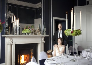 No. 25 Fitzwilliam Place | Couple in Gandon's Suite by Fireplace