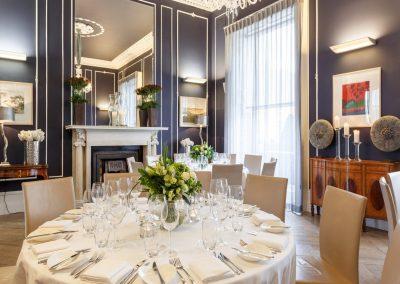 No. 25 Fitzwilliam Place | Round Table Wedding Set-Up