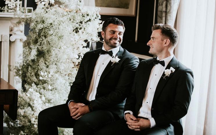 same sex wedding photoshoot, civil ceremony photoshoot, wedding venue Dublin
